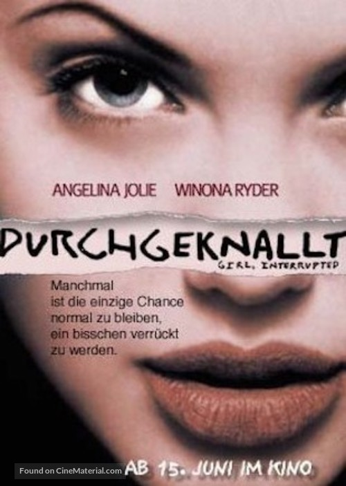 Girl, Interrupted - German Movie Cover