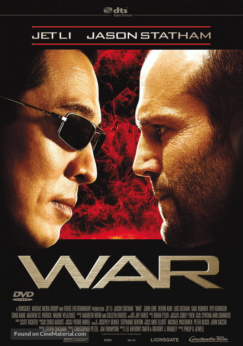 War - German DVD cover