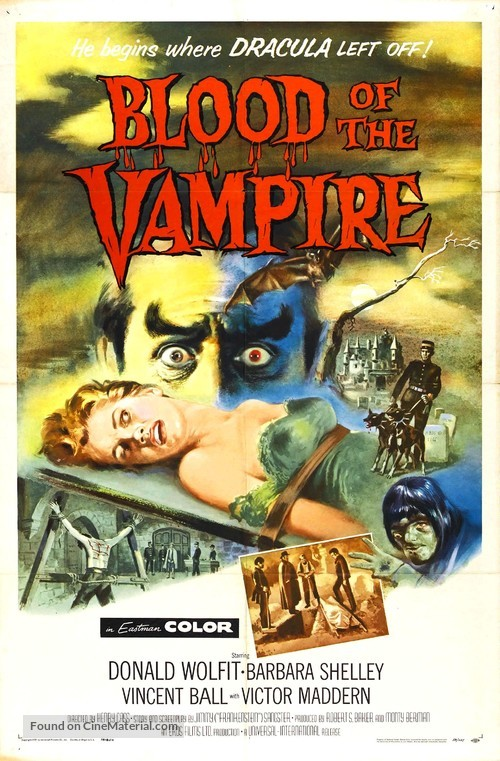Blood of the Vampire - Movie Poster