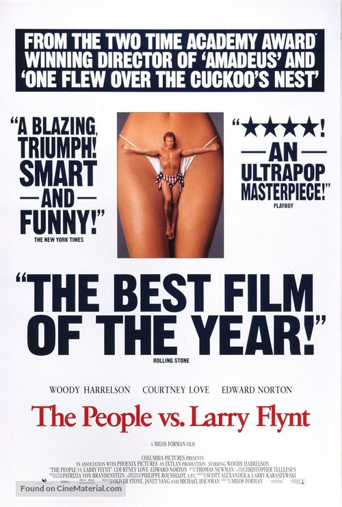 The People Vs Larry Flynt - Movie Poster