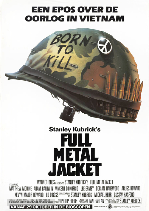 Full Metal Jacket - Dutch Movie Poster