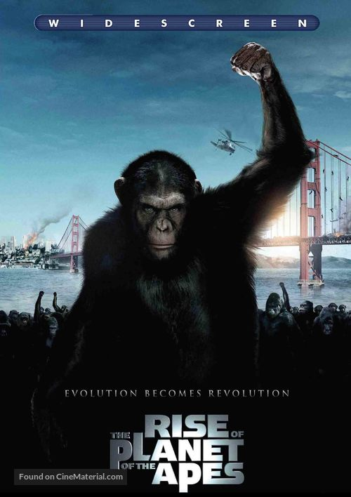 Rise of the Planet of the Apes - DVD cover