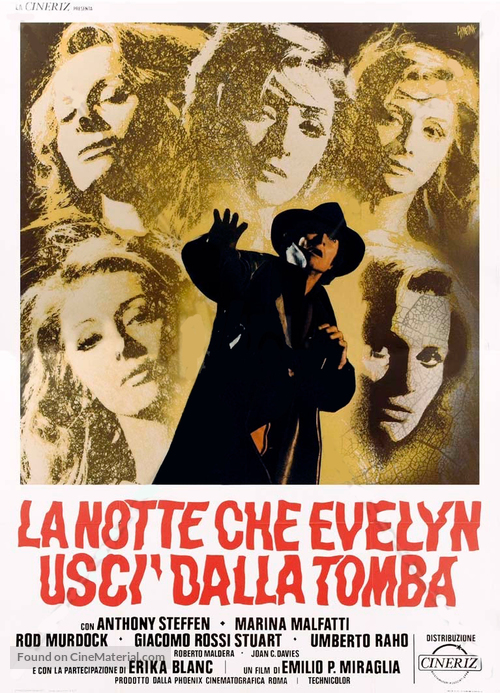 La notte che Evelyn uscì dalla tomba - Italian Movie Poster