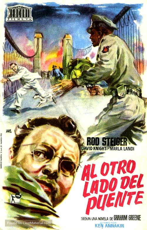 Across the Bridge - Spanish Movie Poster
