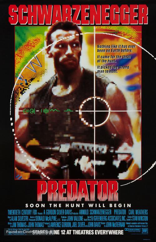 Predator - Advance poster