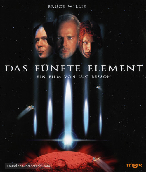 The Fifth Element - German Blu-Ray movie cover