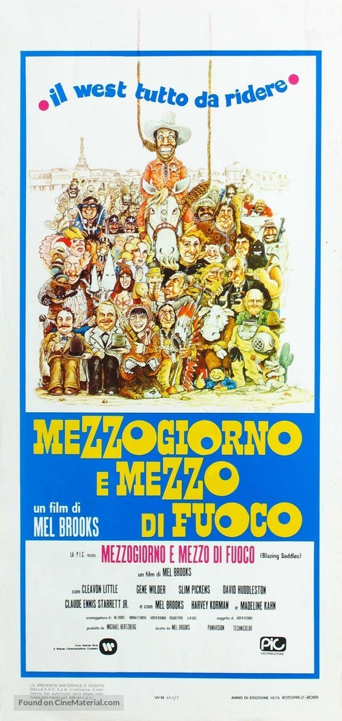 Blazing Saddles - Italian Movie Poster