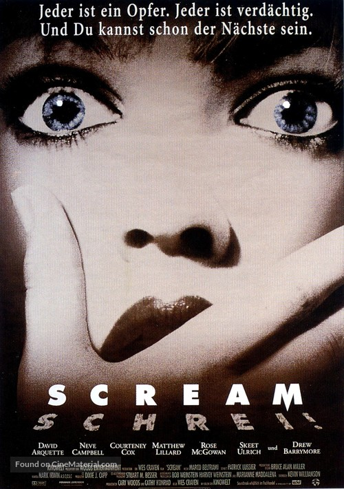 Scream - German Movie Poster