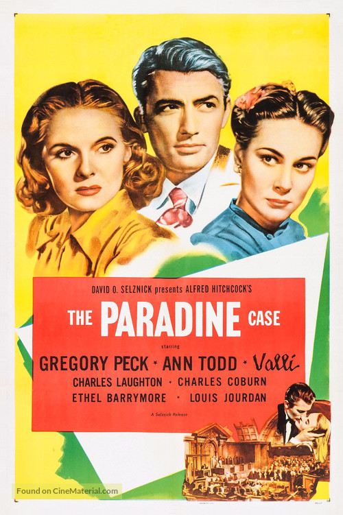 The Paradine Case - Movie Poster