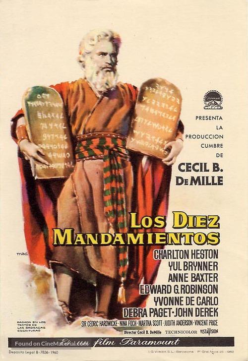 The Ten Commandments - Spanish Movie Poster