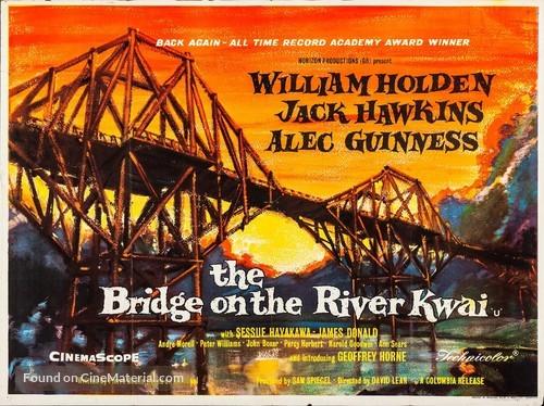 The Bridge on the River Kwai - British Movie Poster