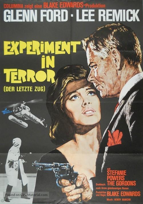 Experiment in Terror - German Movie Poster