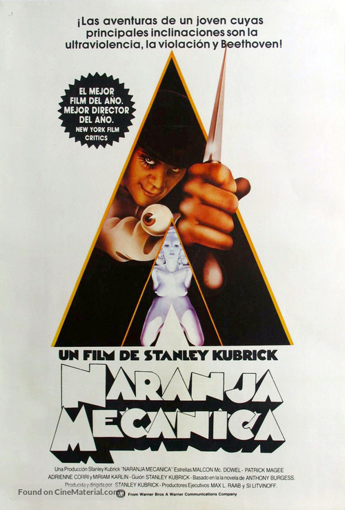 A Clockwork Orange - Argentinian Movie Poster