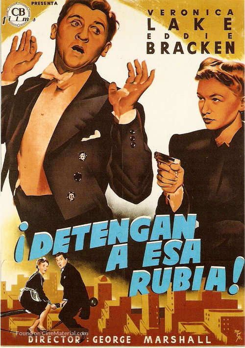 Hold That Blonde - Spanish Movie Poster