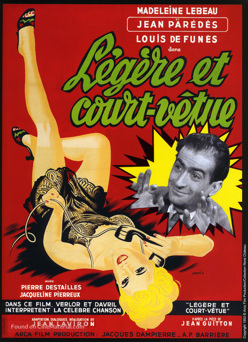 Légère et court vêtue - French Movie Poster