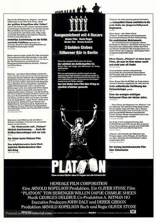 Platoon - German Movie Poster