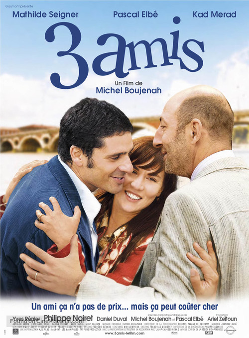 3 amis - French poster