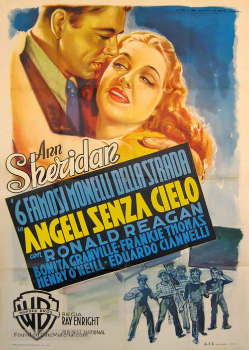 The Angels Wash Their Faces - Italian Movie Poster