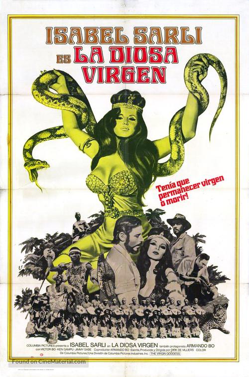 La diosa virgen - Argentinian Movie Poster