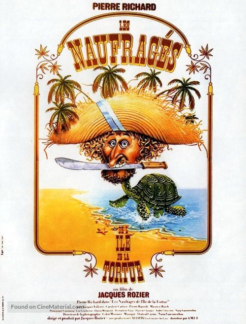 Les naufragés de l'île de la Tortue - French Movie Poster