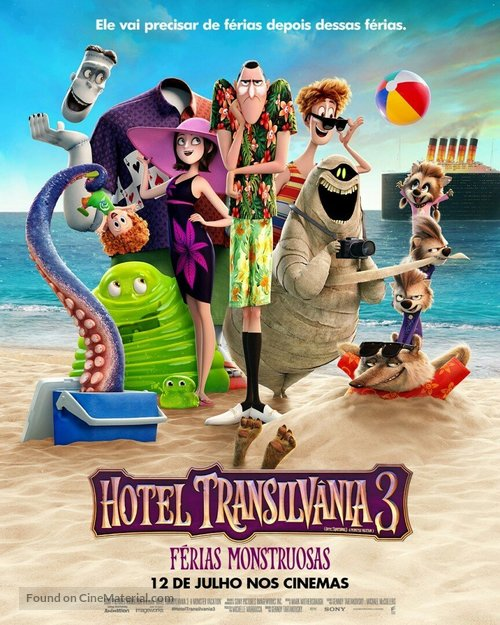 Hotel Transylvania 3: Summer Vacation - Brazilian Movie Poster