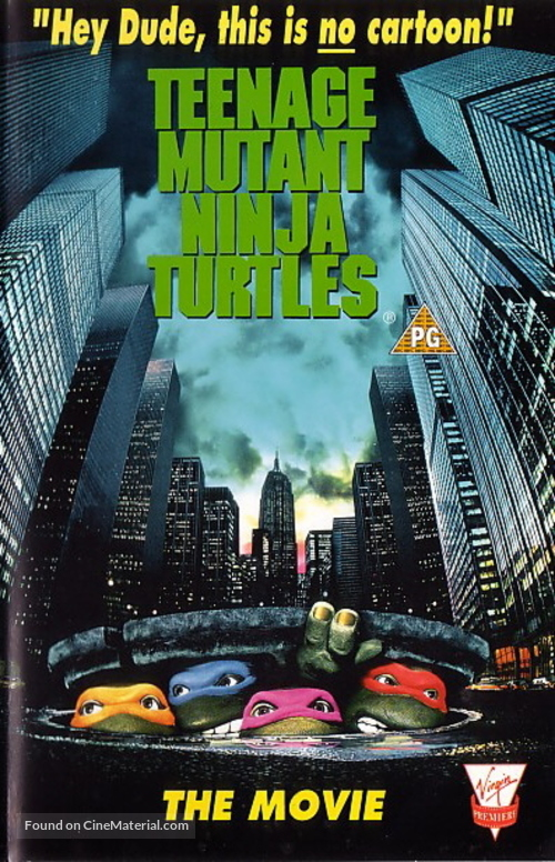 Teenage Mutant Ninja Turtles - British VHS cover