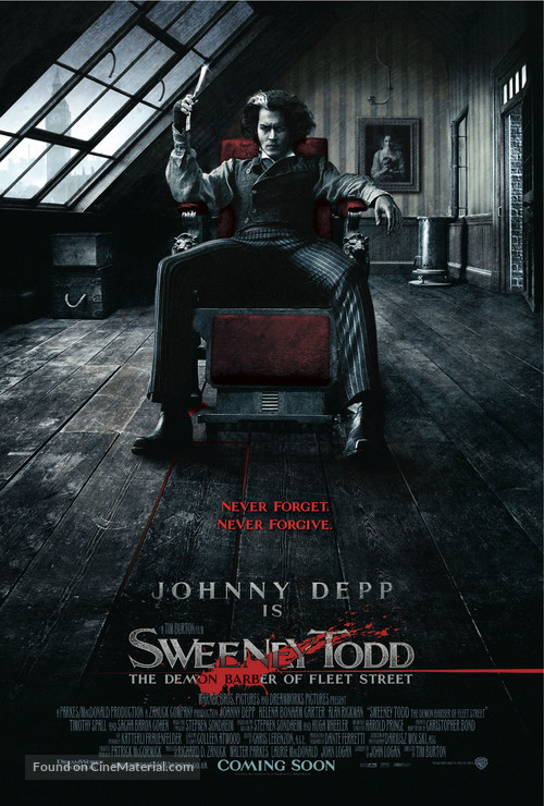 Sweeney Todd: The Demon Barber of Fleet Street - British Movie Poster