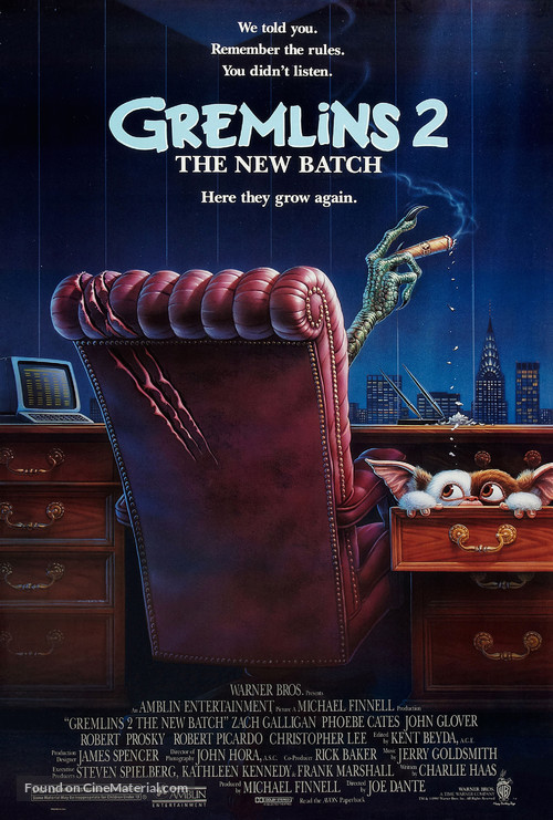 Gremlins 2: The New Batch - Theatrical poster