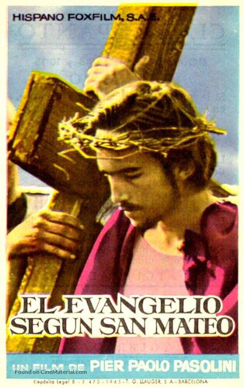 Il vangelo secondo Matteo - Spanish Movie Poster