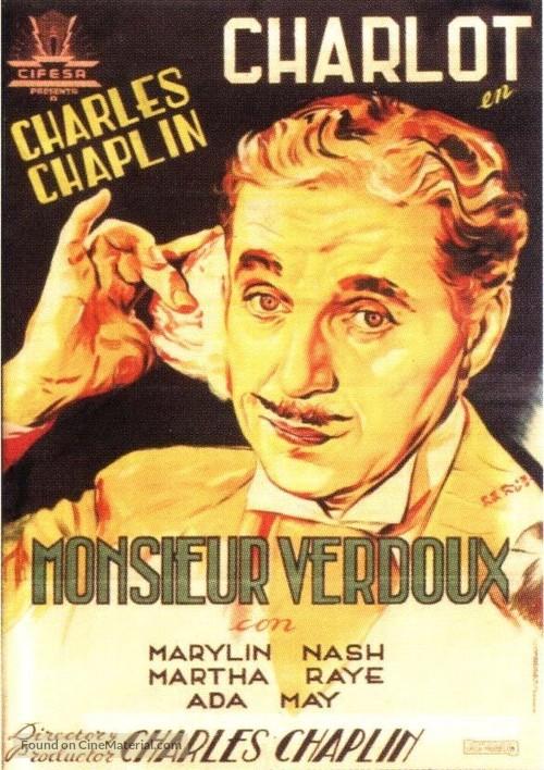 Monsieur Verdoux - Spanish Movie Poster