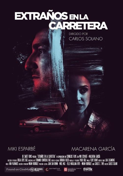 Extraños en la carretera - Spanish Movie Poster