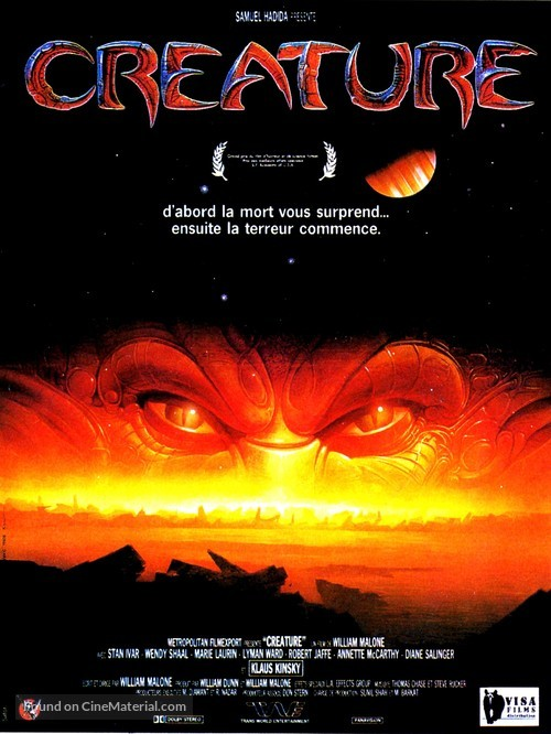 Creature - French Movie Poster