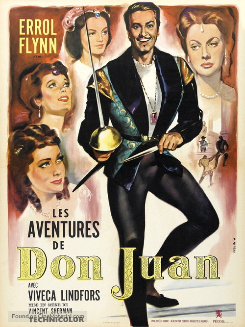 Adventures of Don Juan - French Movie Poster