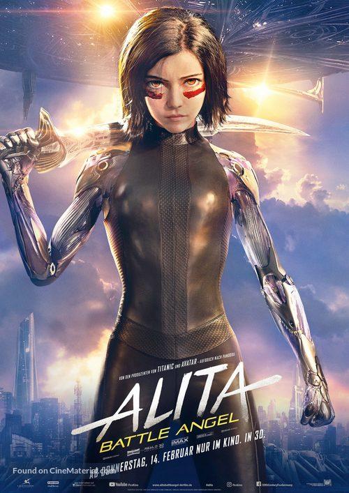 Alita: Battle Angel - German Movie Poster