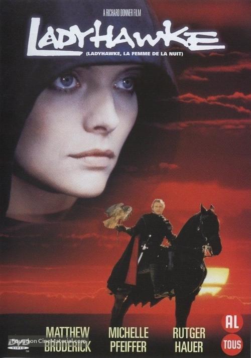 Ladyhawke - Belgian DVD movie cover