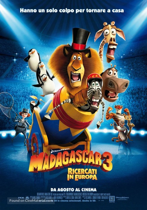 Madagascar 3: Europe's Most Wanted - Italian Movie Poster