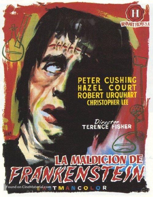 The Curse of Frankenstein - Spanish Movie Poster