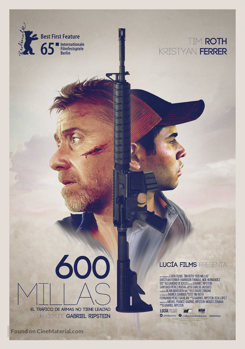 600 Millas - Mexican Movie Poster