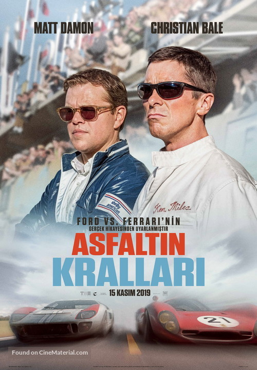 Ford v. Ferrari - Turkish Movie Poster
