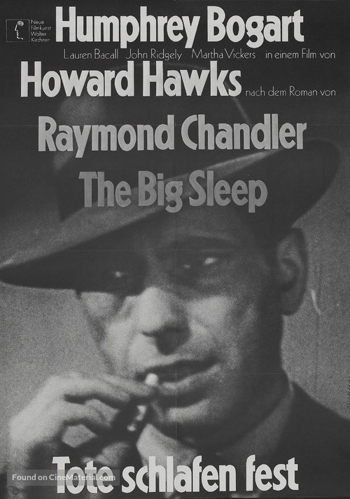 The Big Sleep - German Re-release movie poster