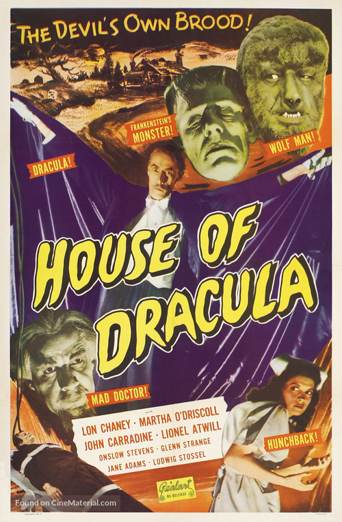House of Dracula - Re-release poster