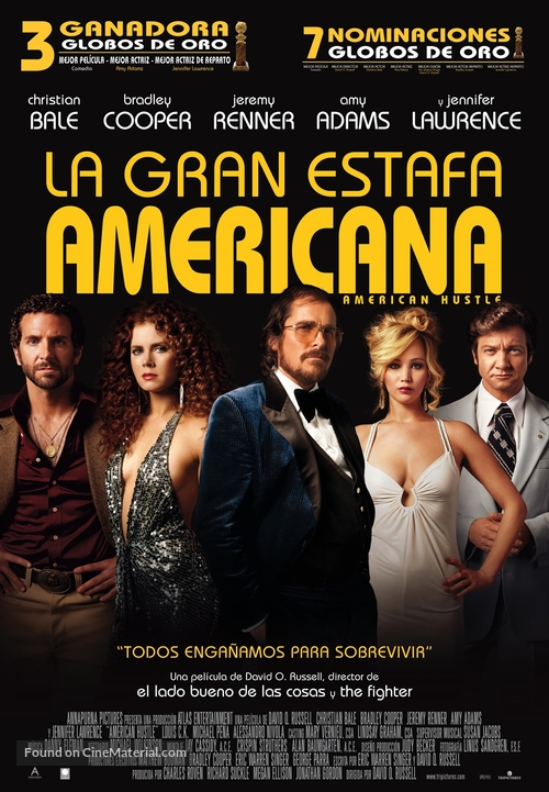 American Hustle - Spanish Movie Poster