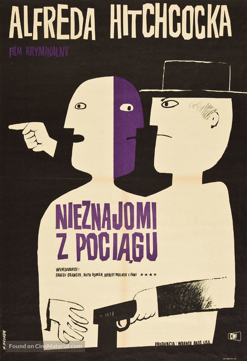 Strangers on a Train - Polish Movie Poster