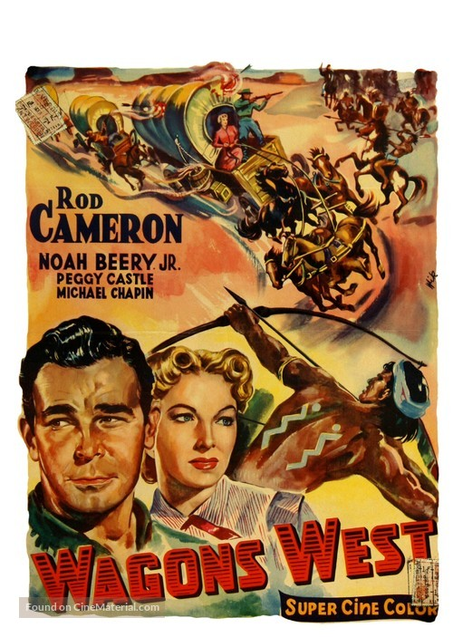 Wagons West - Belgian Movie Poster