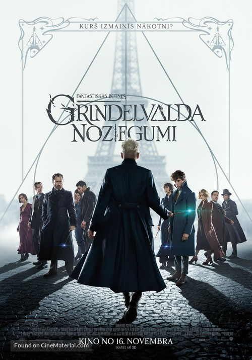 Fantastic Beasts: The Crimes of Grindelwald - Latvian Movie Poster