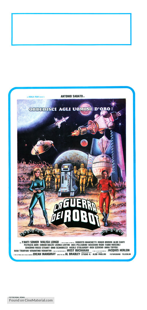 La guerra dei robot - Italian Movie Poster