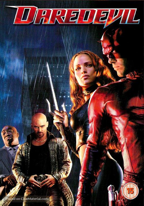 Daredevil - British DVD movie cover