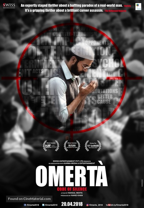 Omerta - Indian Movie Poster