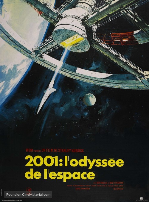 2001: A Space Odyssey - French Movie Poster