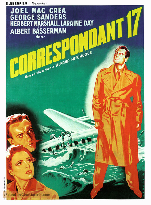 Foreign Correspondent - French Movie Poster